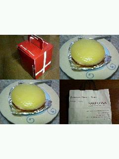 『観音屋』のチーズケーキ